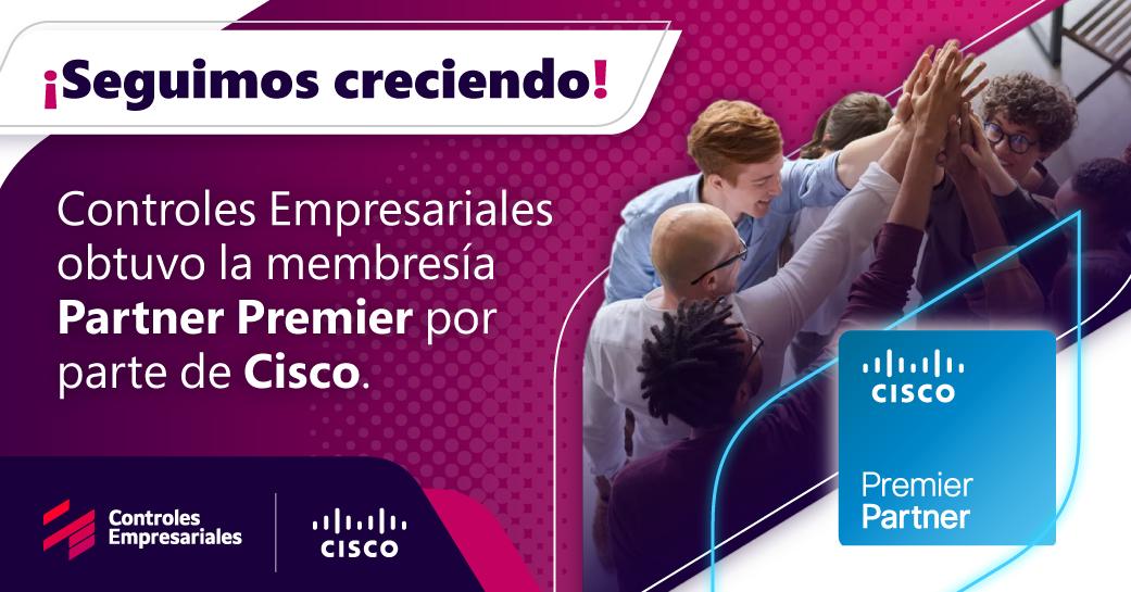 Controles Empresariales obtuvo reconocimiento Partner Premier de la compañía Cisco