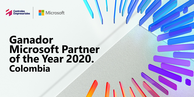 Compañía Colombiana Controles Empresariales recibe reconocimiento Microsoft como Partner Of The Year 2020